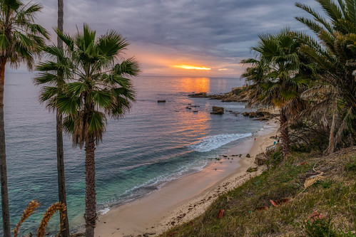california hdr heislerpark lagunabeach nikon nikond5300 pacificocean beach clouds evening geotagged ocean palmtree palmtrees park reflection reflections rock rocks sand seascape sky sunset tree trees water