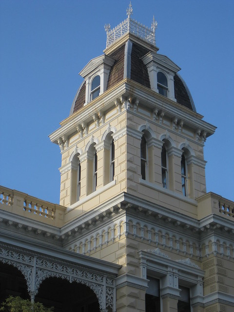 The Mansard Roofed Tower of Goodrest Mansion; Toorak Road, South Yarra