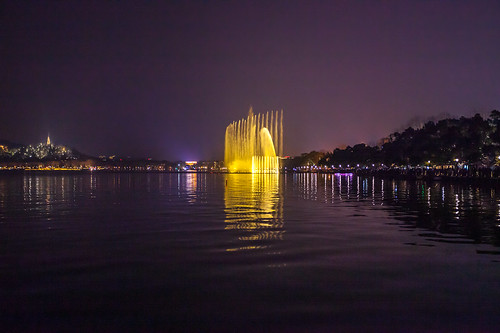 architectural architecture ecology ecosystem environment environmentalism fountain hills lake land landscape landscaping light lighting nature night reflection reflective scenery structures water hangzhou zhejiang china