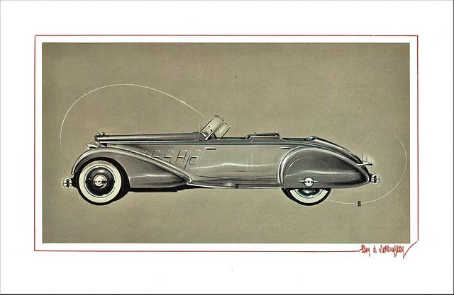 1934 Packard Twelve 1108 Sport Phaeton by LeBaron