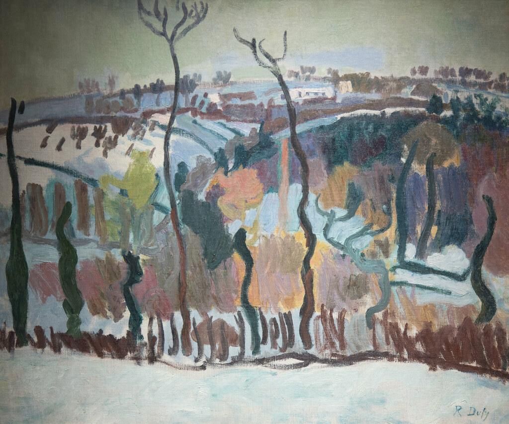 """Création De Rideaux Originaux raoul dufy (1877, 1953) """"rideau d'arbres à falaise"""" (1905"""