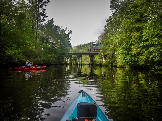 Kayaking to Pompion Hill Chapel on Huger Creek, Cooper River, and Quinby Creek