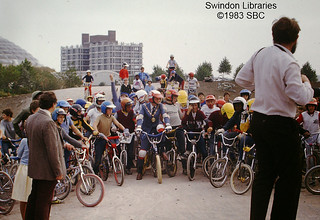 1983: Mayor of Thamesdown attends the BMX track at the Oasis, Swindon   by Local Studies, Swindon Central Library
