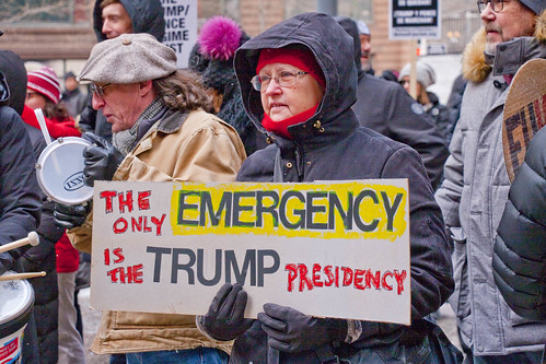 Protesting The Trump National Emergency Chicago Illinois 2-18-19 6135 | by www.cemillerphotography.com
