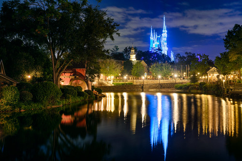 Cinderella Castle Dreamlights & the Rivers of America   by TheTimeTheSpace