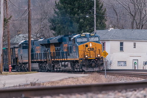CSX #3343 & #3059 Passing Through Coulter, Pa. | by John Brighenti