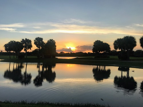 beautifulsunset water sun reflectionsonthepond evening sunsetreflections sunsets sunsetinflorida sunset florida jupiter jupiterflorida