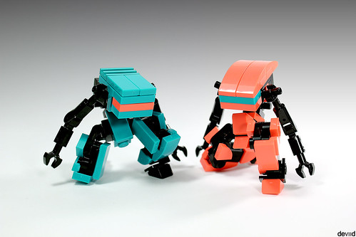 Military support drones DT14 & VBC15 (Dark Turquoise & Coral) | by Devid VII
