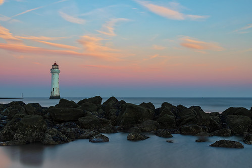 merseyside england unitedkingdom gb lighthouse forth perch rock new brighton river mersey landscape seascape formatt hitech firecrest long exposure sunrise