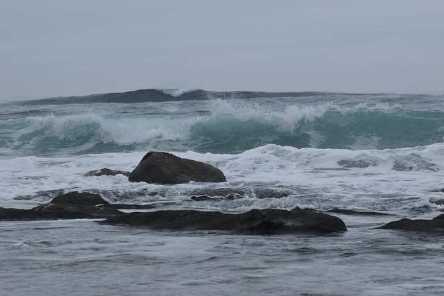 Waves in Lincoln City, OR
