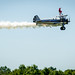 A wing walker flies past the crowd during a show at the Flying Circus Aerodrome and Airshow in Bealeton, Va., Jul. 30, 2017. (U.S. Air Force photo by J.M. Eddins Jr.)