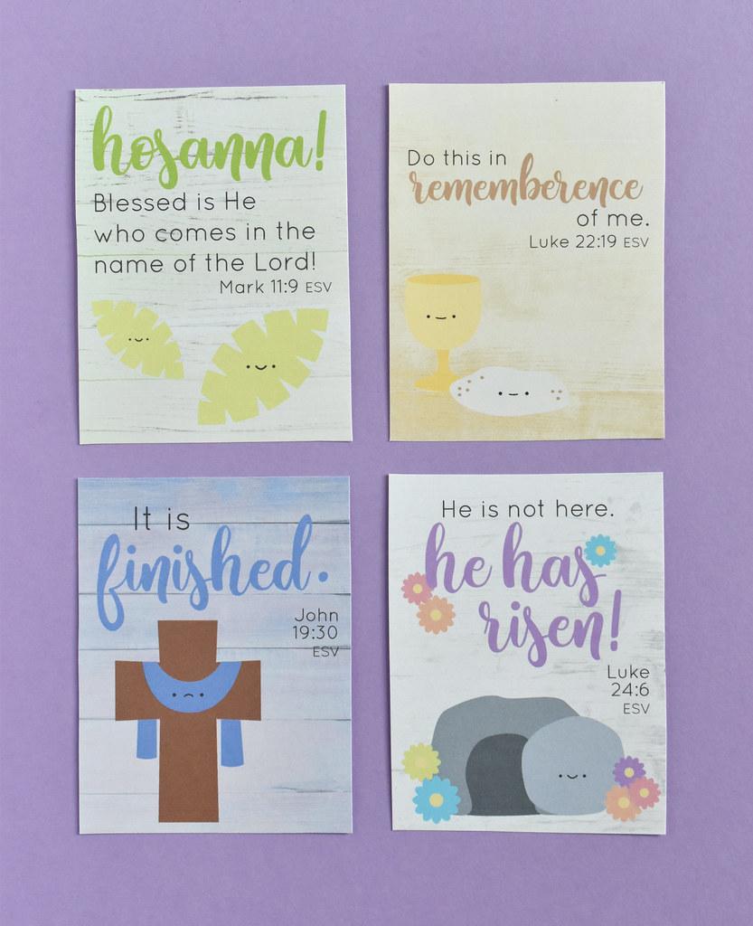 Holy Week Printable Verse Cards