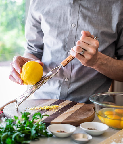 fresh lemon zest adds a bright zing to the pasta | by Husbands That Cook