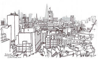 View from Westminster cathedral's tower | by petescully