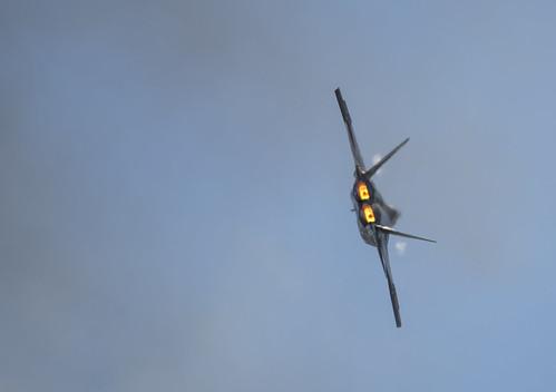 F-22 Afterburner and Haze