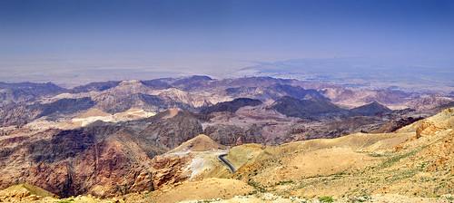 jordan jordania jordanien jordanvalley roads mountains landscape desert tafilahdistrict