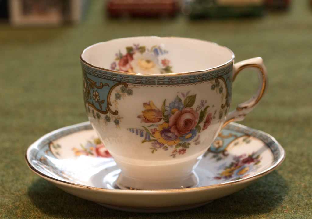 Part of a 67 year old bone china tea set
