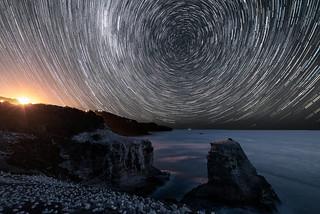Star Trail at Muriwai Gannet Colony