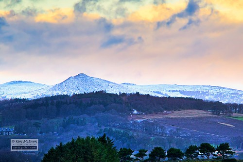 Bennachie with a mantle of snow