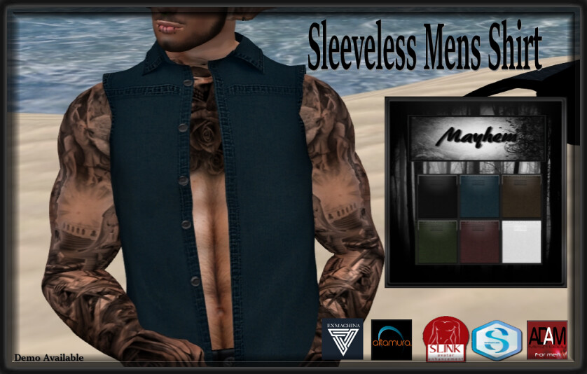 Mayyhem Sleeveless Mens Shirt