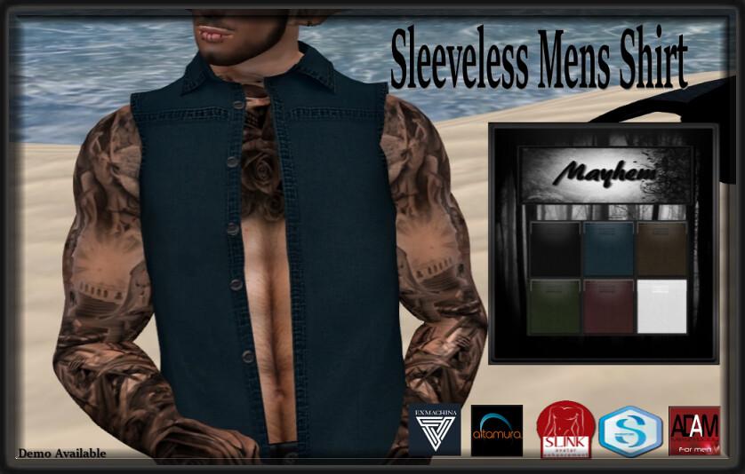 Mayyhem Sleeveless Mens Shirt