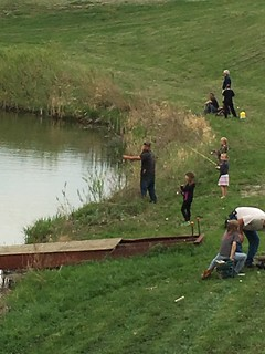 Junior Wildlife Club shoreline fishing at Heitkamp Pond | by Red River Area Sportsmen's Club