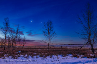 Venus, Jupiter and the Stars of Scorpius at Dawn