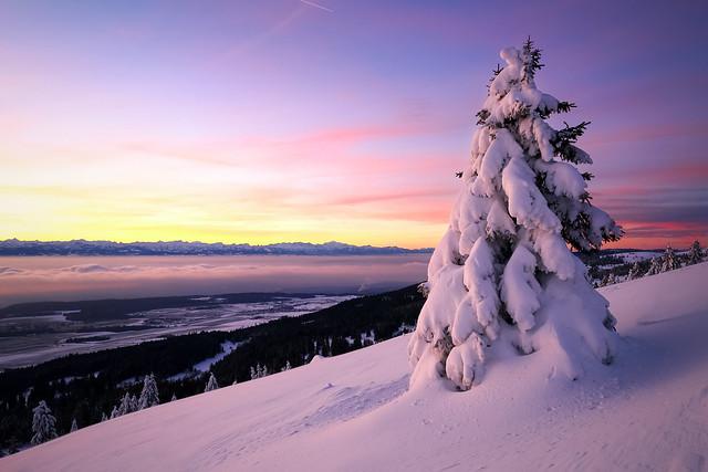 Wintery Tête-de-Ran - Switzerland