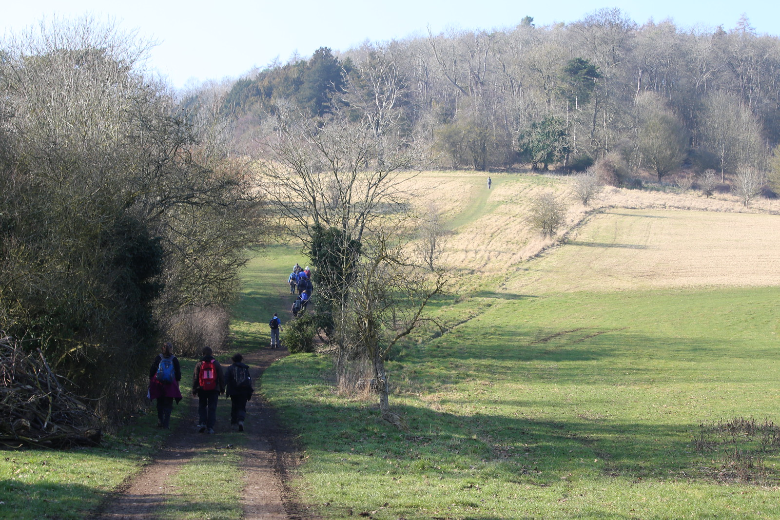 Following up the hill just out of Hambleden