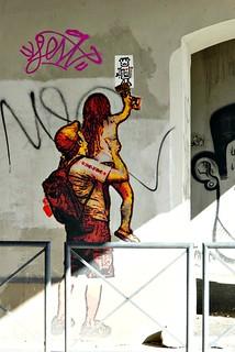 Nimetöntä street artia Roomassa | by helipekkarinen