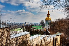 The bell tower on the Far Caves. Kyiv. Ukraine.