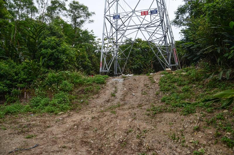 大竹高山山頂高壓輸電塔