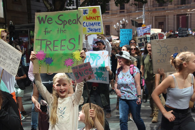We speak for the trees. We need bugs  - Melbourne climate strike