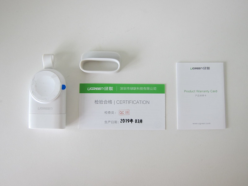Ugreen Portable Apple Watch Charger - Box Contents