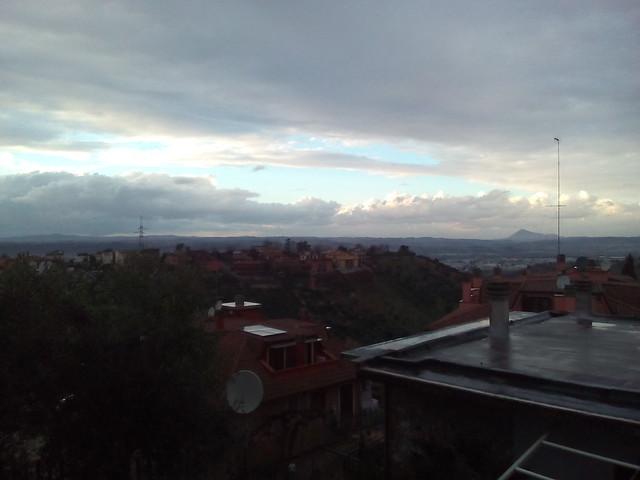 tramonto a monterotondo provincia di roma regione lazio -- italia