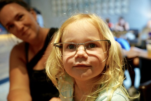 Madeleine tries mommy's glasses on | by dionhinchcliffe