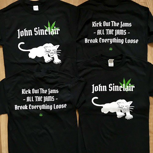 Kick Out The Jams - John Sinclair - Limited Edition T-shirt has arrived | by Iron Man Records