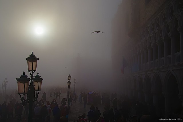 A foggy winter afternoon in Venice