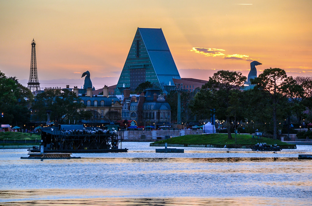 Sunset Epcot Swan France