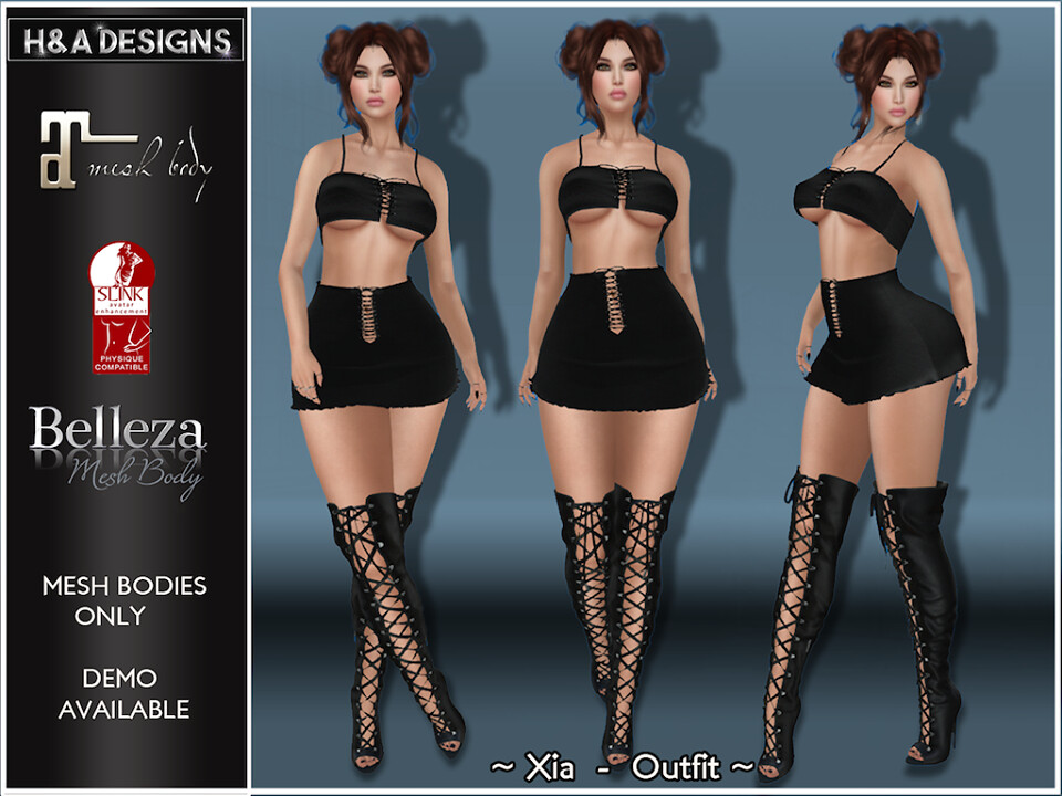 [H&A Designs]-Xia Outfit Black
