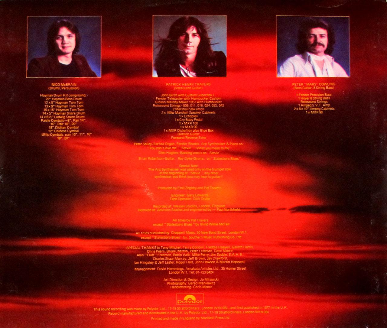 """PAT TRAVERS MAKIN' MAGIC ORIG UK 12"""" LP VINYL"""