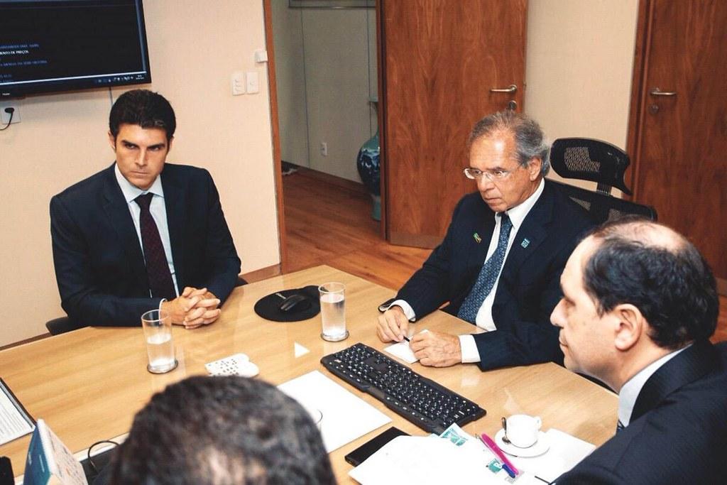 Os promissores passos do governo Helder runo ao sucesso. Por Evaldo Viana, Helder Barbalho e o ministro Paulo Guedes