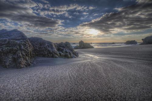 malibuca elmatadorstatebeach rocks rockyshore pacificocean sea sky clouds sunset