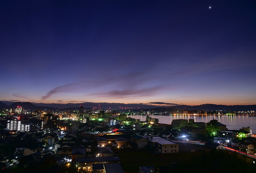 d750 nikon matsue shimane balcony sanin lakeshinji lake shinjilake sunrise winter december japan nikond750 twilight magichour