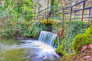 Waterfall at lymm dam