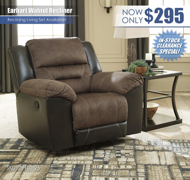 Earhart Walnut Recliner_29101-25_Clearance