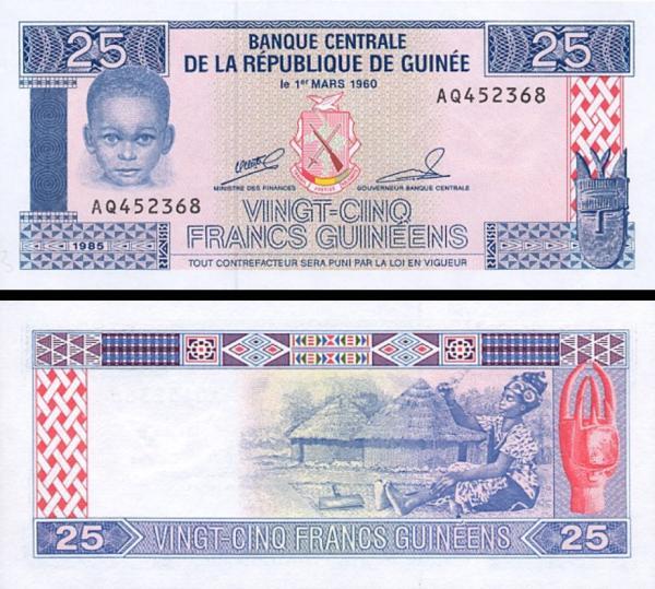 25 Frankov Guinea 1985, P28