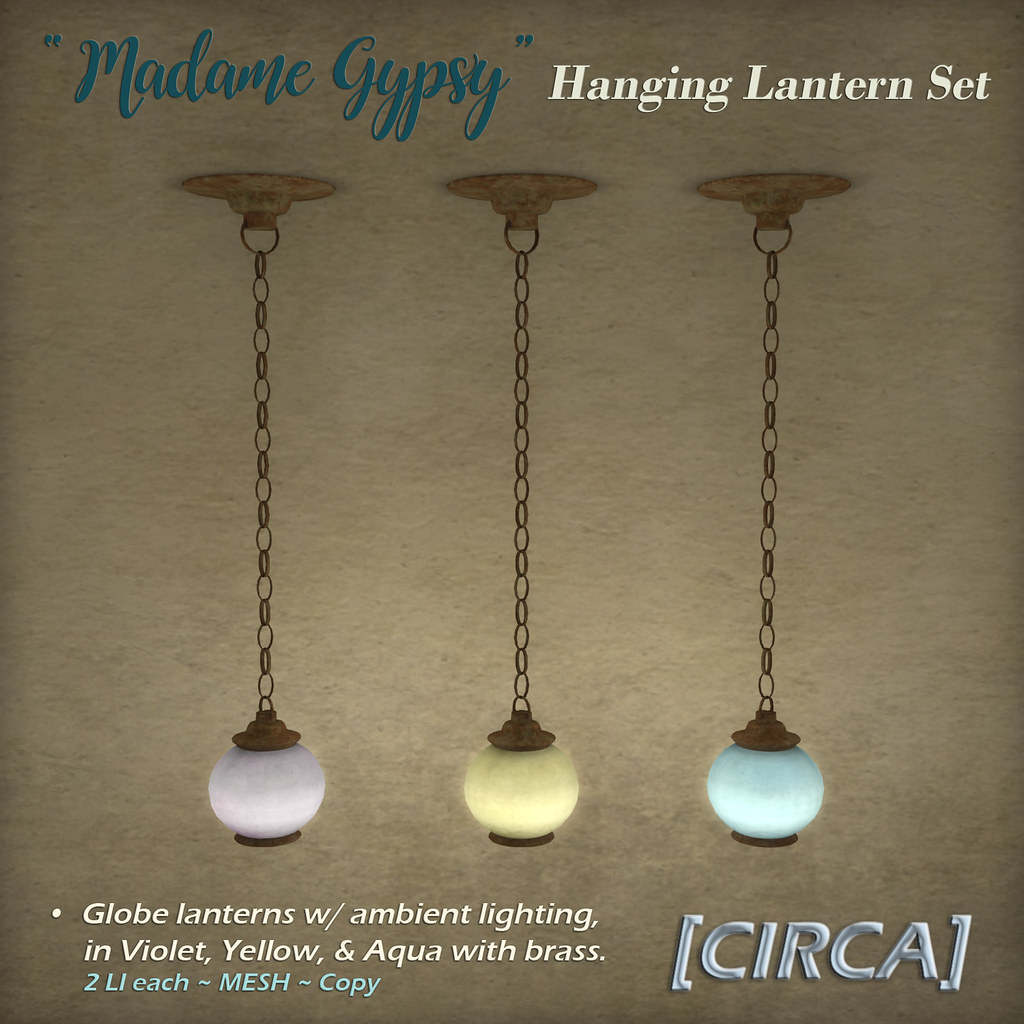 "@ The Boardwalk | [CIRCA] – ""Madame Gypsy"" – Hanging Globe Lantern Set"