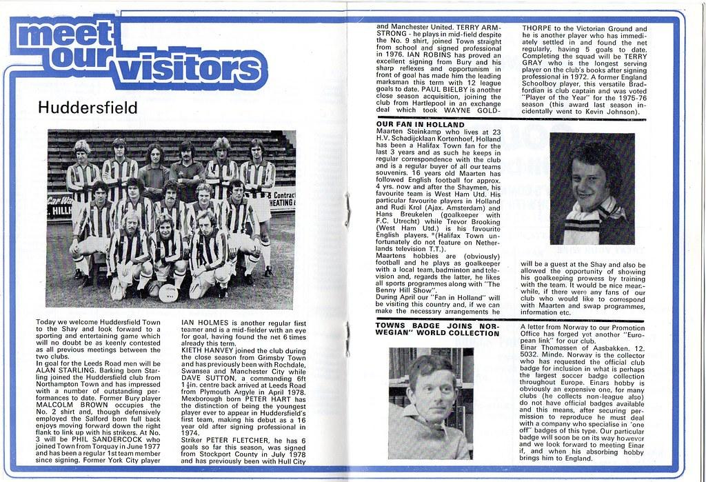 (Programme) 14-04-1979 Halifax Town 2-3 Huddersfield Town 4