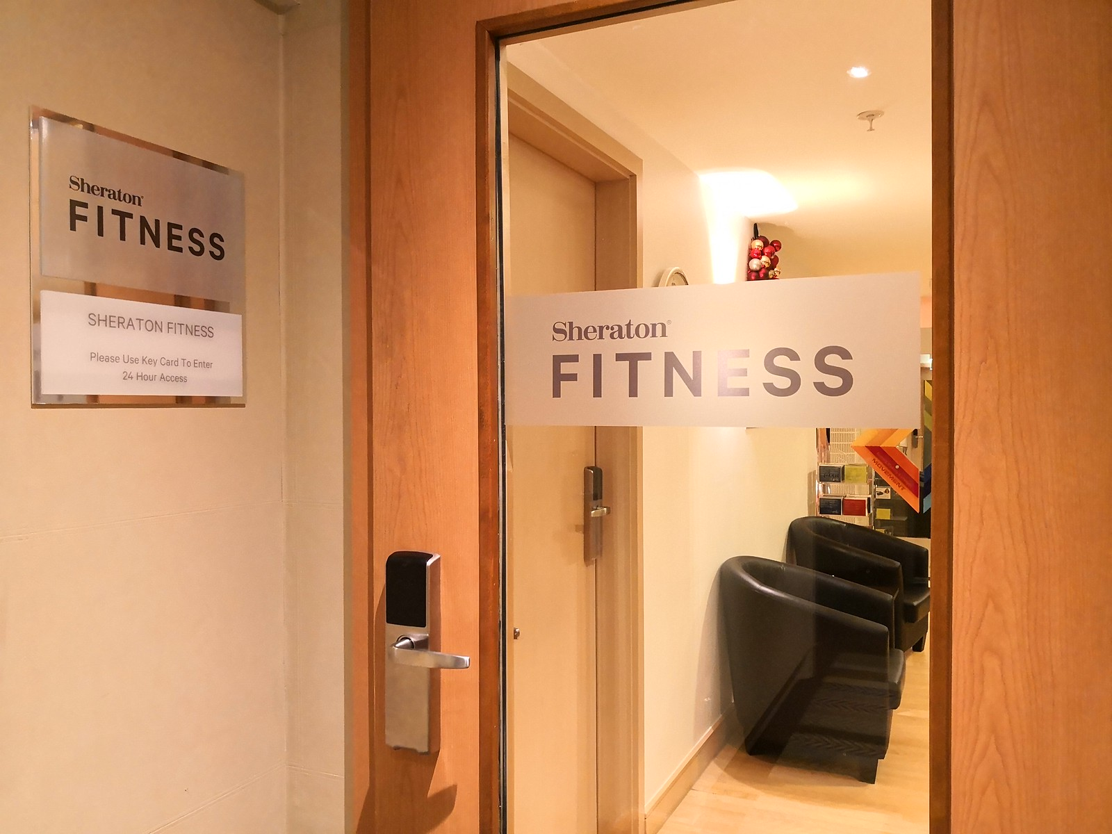 Fitness centre entrance